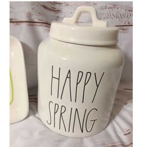 """Rae Dunn """"Happy Spring"""" Canister"""